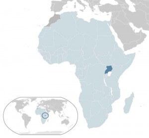 location map Uganda Africa